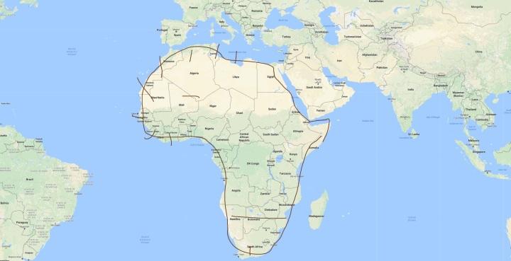 afrikka-kartta