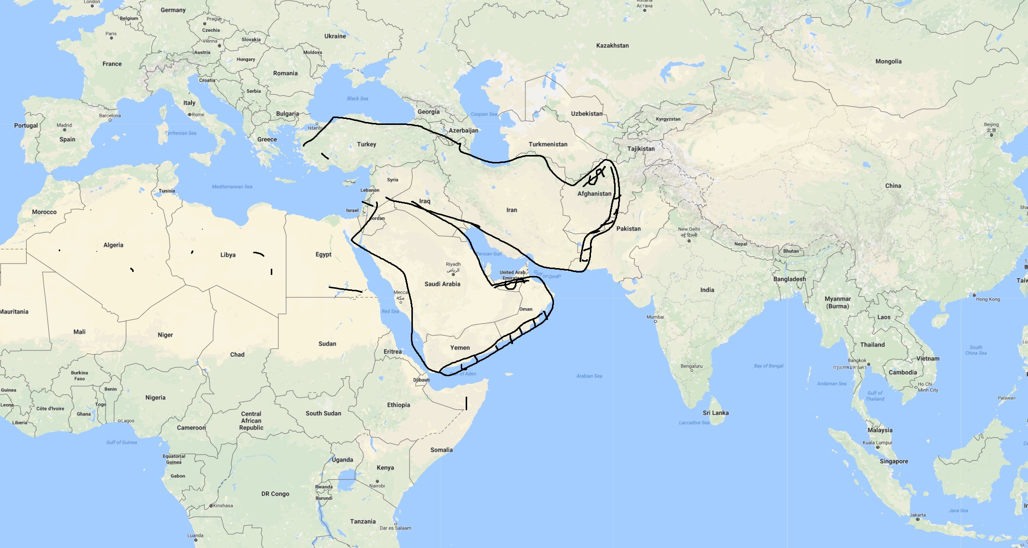 lähi-itä-kartta